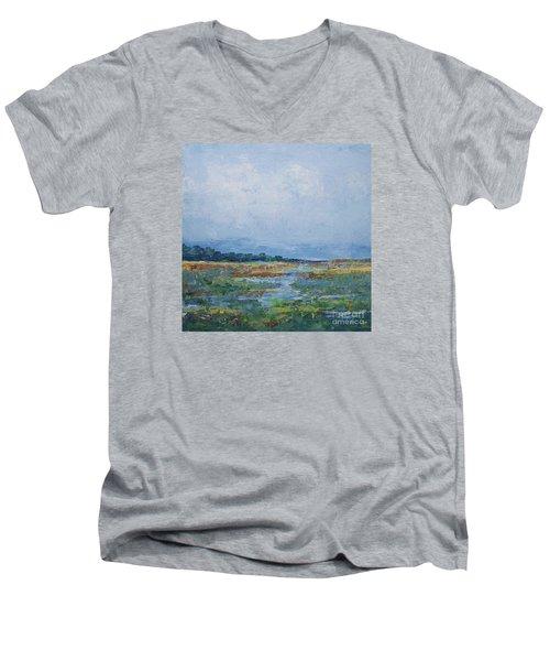 Carolina Country Blues Men's V-Neck T-Shirt by Gail Kent