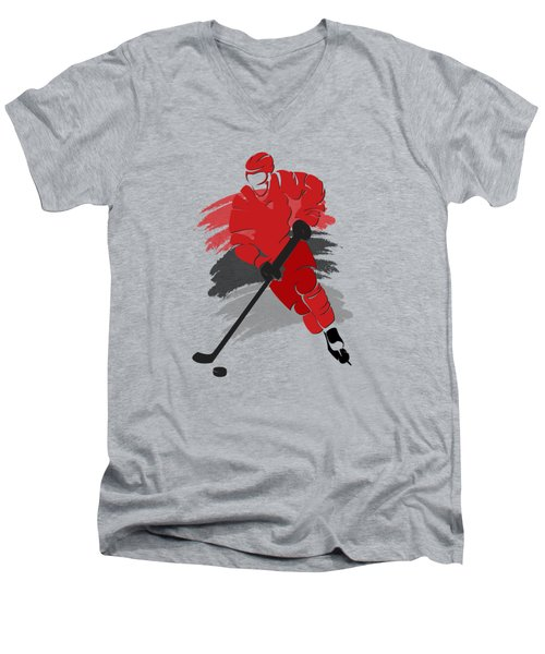 Carolina Hurricanes Player Shirt Men's V-Neck T-Shirt by Joe Hamilton