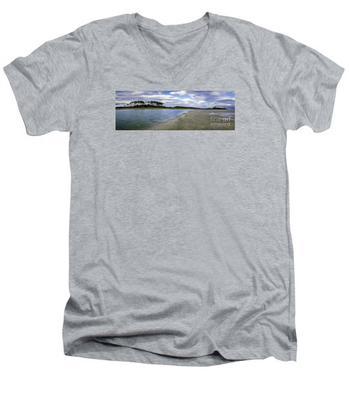 Carolina Inlet At Low Tide Men's V-Neck T-Shirt by David Smith