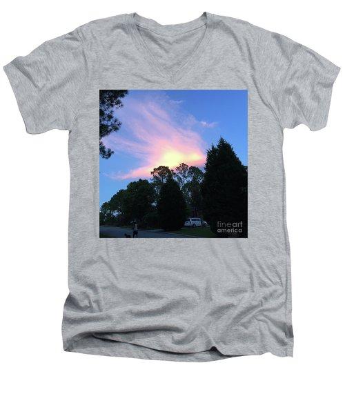 Carolina Summer Sky Men's V-Neck T-Shirt