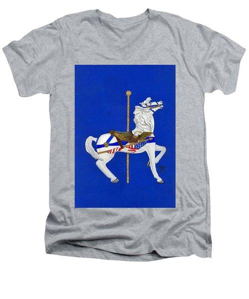 Carousel Horse #1 Men's V-Neck T-Shirt