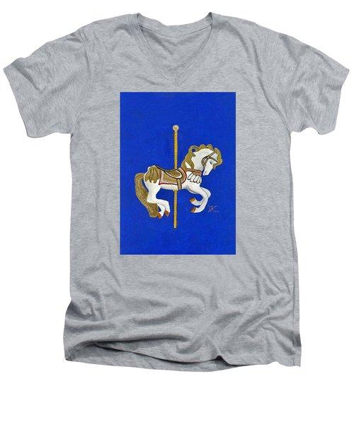 Carousel Horse #3 Men's V-Neck T-Shirt