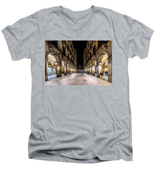 Carrer De Colom Men's V-Neck T-Shirt by Randy Scherkenbach