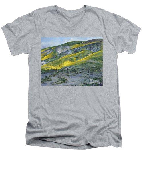 Carrizo Spring Mustard Men's V-Neck T-Shirt
