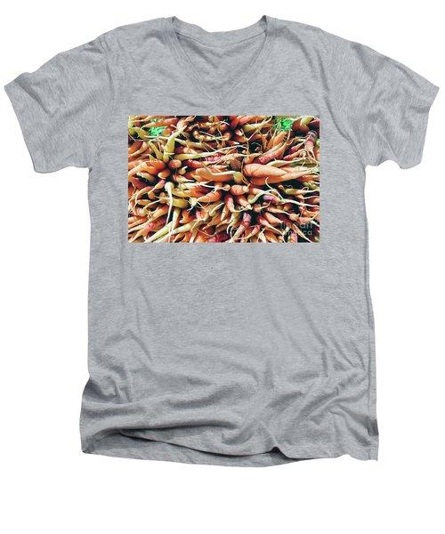 Carrots Men's V-Neck T-Shirt by Ian MacDonald