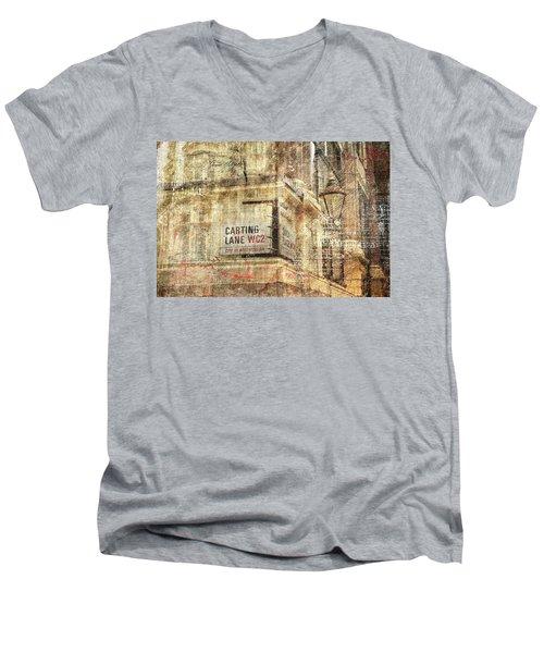 Carting Lane, Savoy Place Men's V-Neck T-Shirt by Nicky Jameson