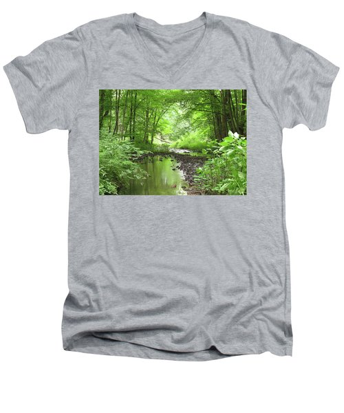Men's V-Neck T-Shirt featuring the photograph Carver Creek by Kimberly Mackowski