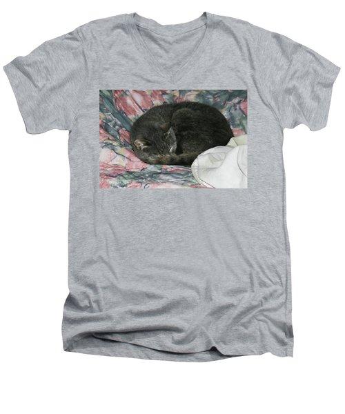 Cas-1 Men's V-Neck T-Shirt