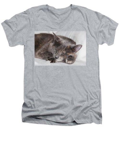 Cas-4 Men's V-Neck T-Shirt