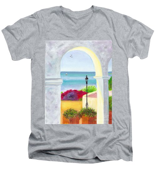 Casa Romantica View Men's V-Neck T-Shirt