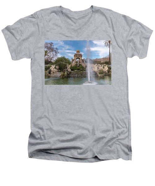 Cascada Monumental Men's V-Neck T-Shirt by Randy Scherkenbach