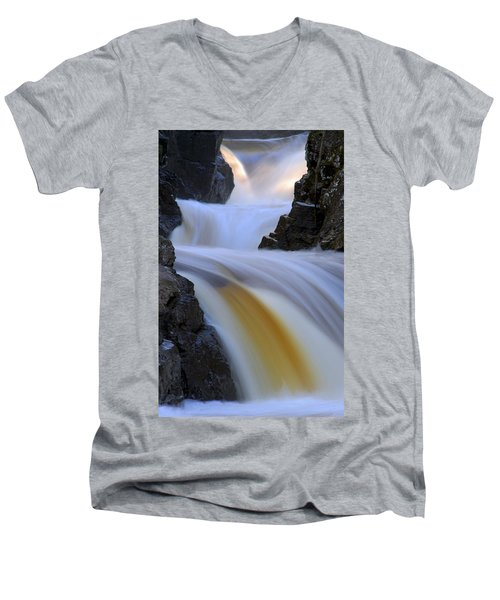 Cascade At Dawn Men's V-Neck T-Shirt