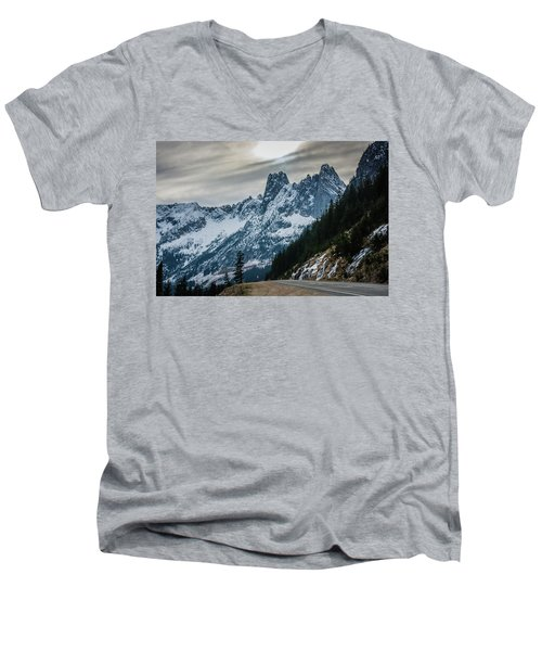 Cascade Beauty Men's V-Neck T-Shirt