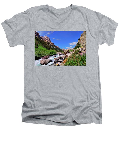 Cascade Canyon Men's V-Neck T-Shirt
