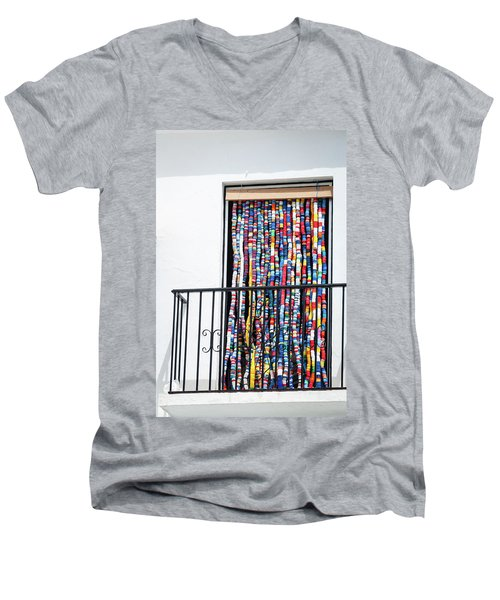 Cascade Of Colour Men's V-Neck T-Shirt