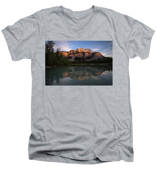 Cascade Ponds Reflections Men's V-Neck T-Shirt