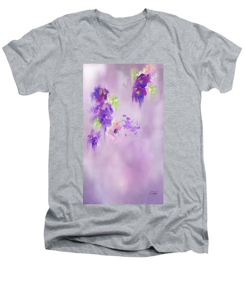 Cascading Orchids Men's V-Neck T-Shirt
