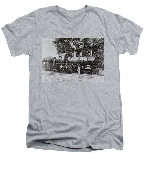 Casey Jones Engine  Men's V-Neck T-Shirt