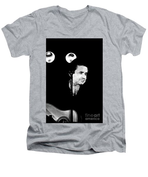 Men's V-Neck T-Shirt featuring the photograph Cash by Paul W Faust - Impressions of Light