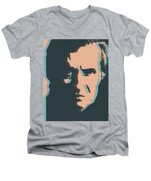 Cash Pop Art Poster Men's V-Neck T-Shirt