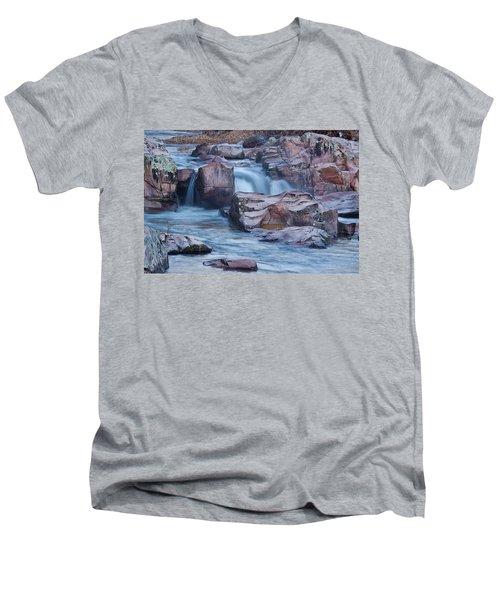 Caster River Shut-in Men's V-Neck T-Shirt by Robert Charity