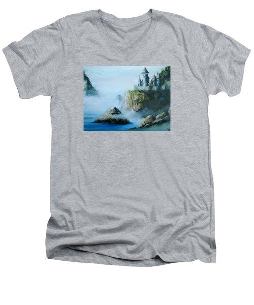 Castle At Dragon Point Men's V-Neck T-Shirt