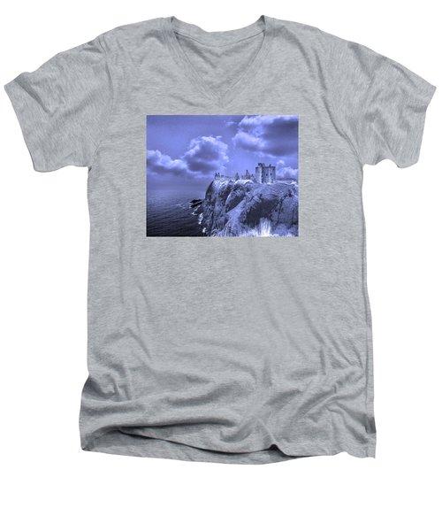 Castle Blue Men's V-Neck T-Shirt