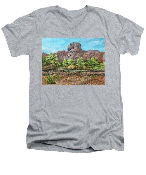 Castle Dome Flash Flood Men's V-Neck T-Shirt