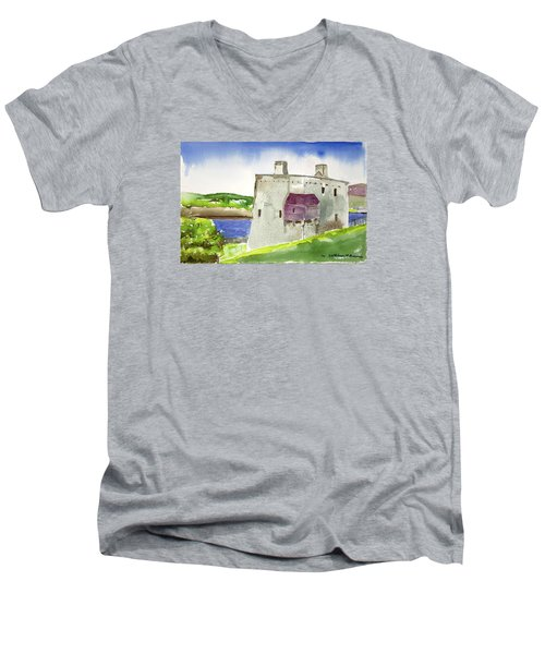 Castle From The Hill Men's V-Neck T-Shirt
