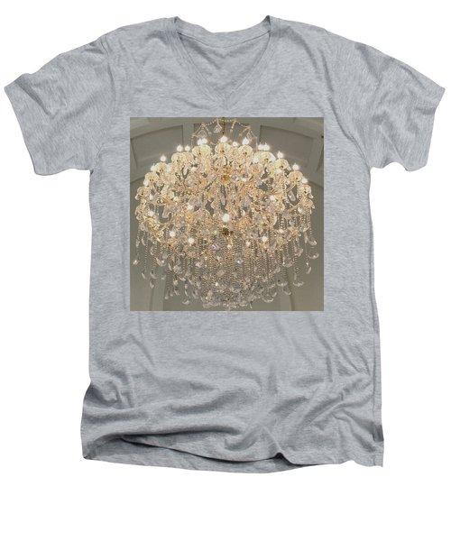 Castle Front Hall 01 Men's V-Neck T-Shirt