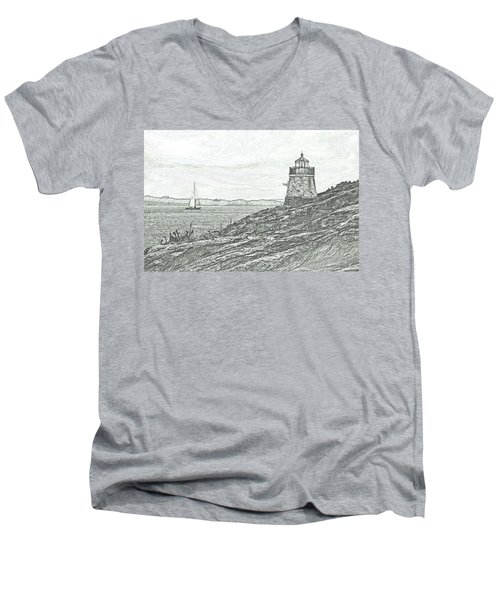 Castle Hill Lighthouse Men's V-Neck T-Shirt
