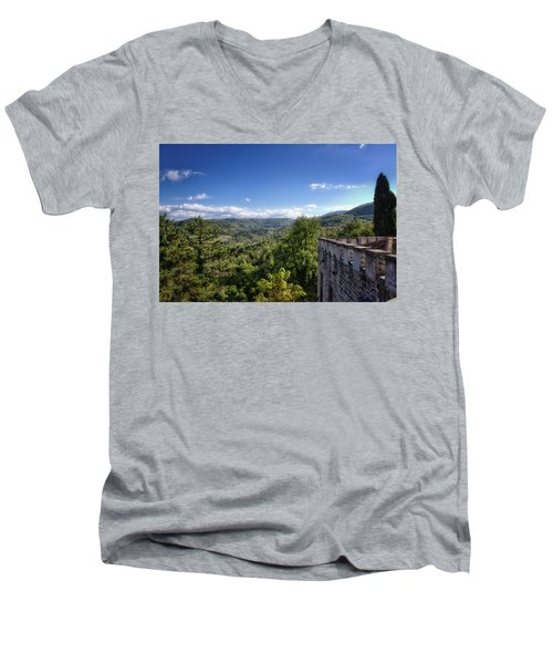 Castle In Chianti, Italy Men's V-Neck T-Shirt