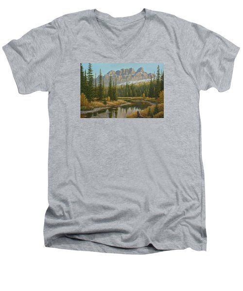 Castle In The Sky Men's V-Neck T-Shirt