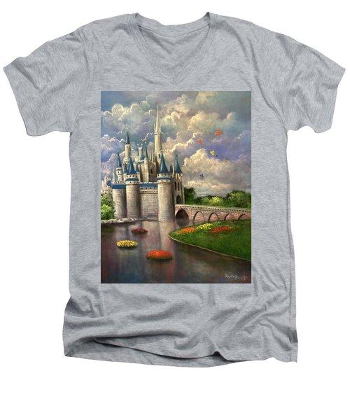 Castle Of Dreams Men's V-Neck T-Shirt