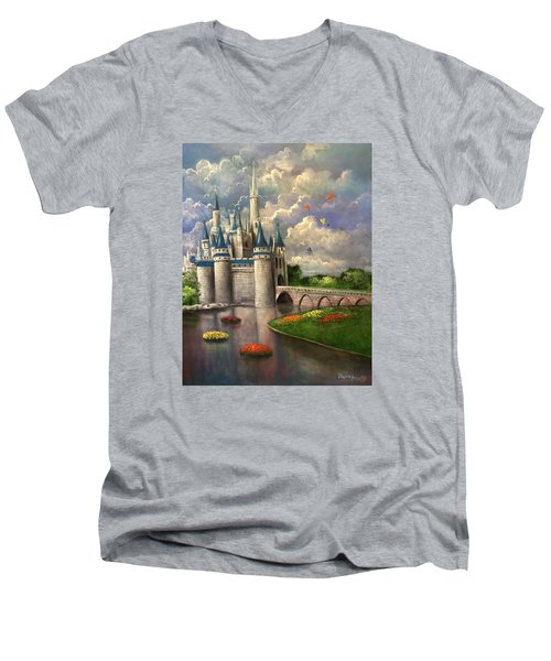 Castle Of Dreams Men's V-Neck T-Shirt