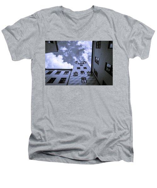 Men's V-Neck T-Shirt featuring the photograph Castle by Sergey Simanovsky