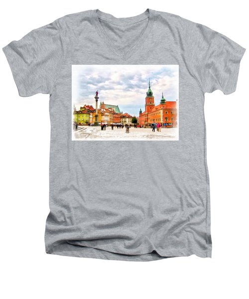 Castle Square, Warsaw Men's V-Neck T-Shirt