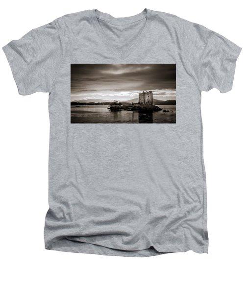 Castle Stalker 1 Men's V-Neck T-Shirt by Niels Nielsen