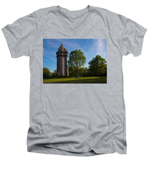 Castle Turret On The Green Men's V-Neck T-Shirt