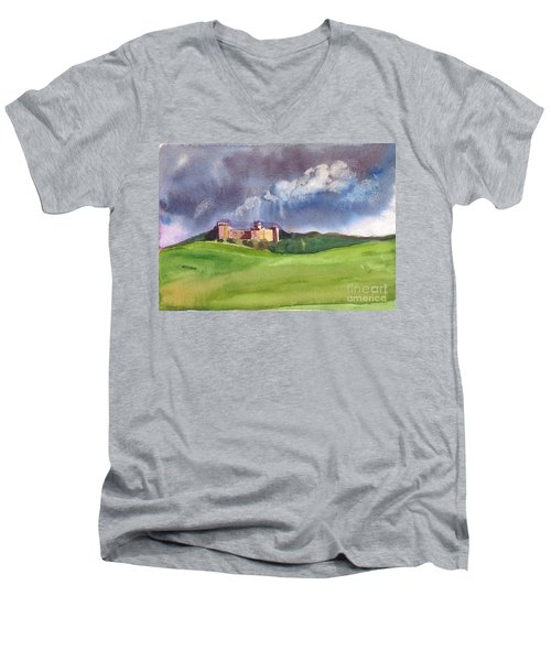 Castle Under Clouds Men's V-Neck T-Shirt