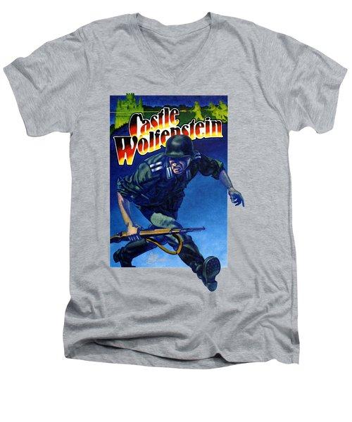 Castle Wolfenstein Shirt Men's V-Neck T-Shirt