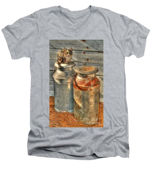 Cat And The Churns Men's V-Neck T-Shirt