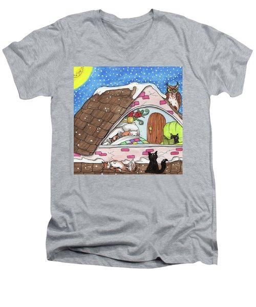 Cat Condo Men's V-Neck T-Shirt
