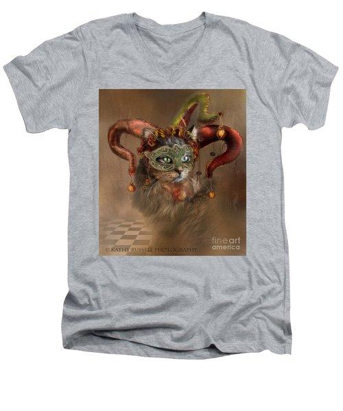 Cat In A Hat Men's V-Neck T-Shirt
