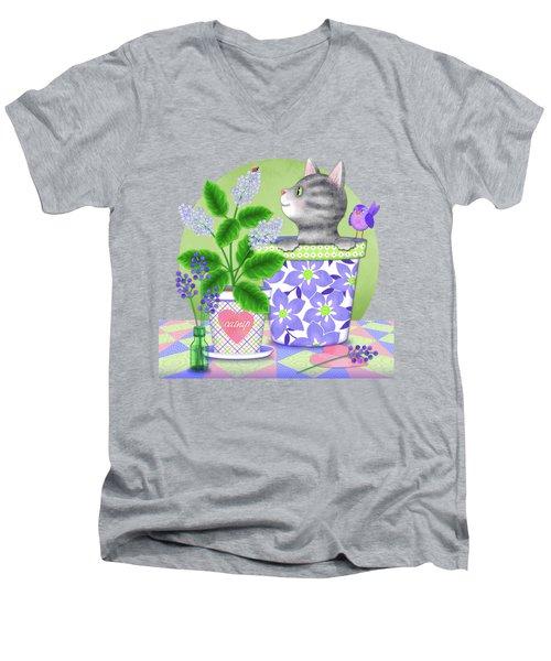 Cat Love Men's V-Neck T-Shirt