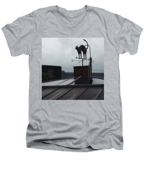 Cat On A Cool Tin Roof Men's V-Neck T-Shirt