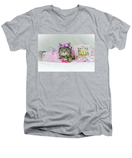 Cat Tea Party Men's V-Neck T-Shirt