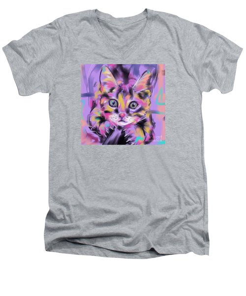 Cat Wild Thing Men's V-Neck T-Shirt