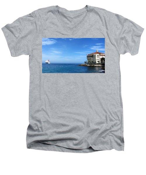 Catalina Island Casino Men's V-Neck T-Shirt
