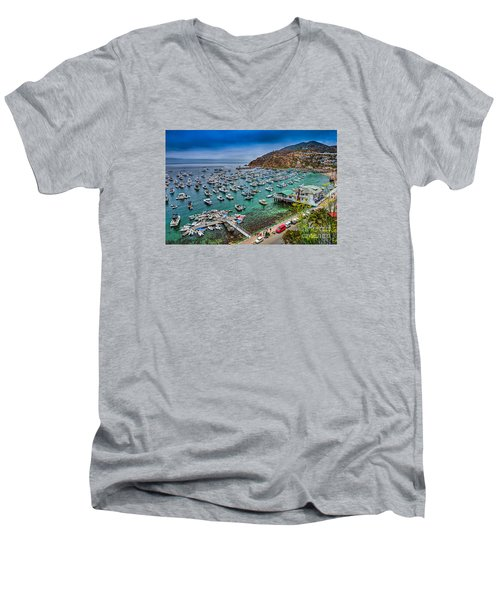 Catalina Island  Avalon Harbor Men's V-Neck T-Shirt